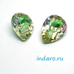 Капля Swarovski 4320 Luminous Green